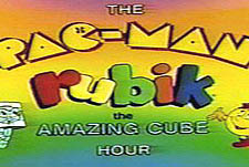 The Pac-Man/Rubik the Amazing Cube Hour  Logo