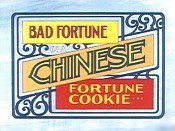 Bad Fortune In A Chinese Fortune Cookie Cartoon Picture
