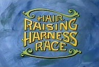 Hair Raising Harness Race Cartoon Character Picture
