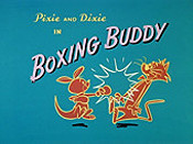 Boxing Buddy Cartoon Picture