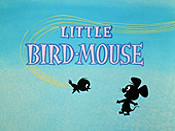 Little Bird-Mouse Cartoon Picture