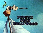 Popeye Goes Hollywood Picture To Cartoon