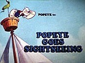 Popeye Goes Sightseeing Picture To Cartoon