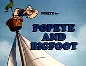 Popeye And Bigfoot Cartoon Picture