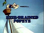 Heir-Brained Popeye Free Cartoon Pictures
