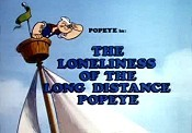 The Loneliness Of The Long Distance Popeye Cartoons Picture