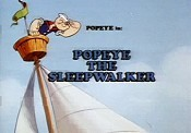 Popeye The Sleepwalker Cartoon Picture