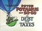 Debt And Taxes Cartoon Picture