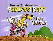 Dog Tracks Cartoon Picture