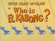 Who Is El Kabong? Cartoon Picture
