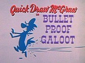 Bullet Proof Galoot Cartoon Character Picture