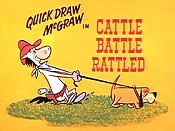 Cattle Battle Rattled Cartoon Picture