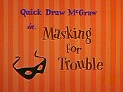 Masking For Trouble Cartoon Picture