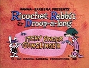 Itchy Finger Gunslinger Cartoon Character Picture