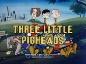 Three Little Pigheads Cartoon Picture