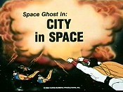 City In Space Picture Of Cartoon