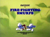 Fire-Fighting Smurfs Pictures In Cartoon