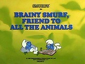 Brainy Smurf, Friend To All The Animals Picture Of Cartoon