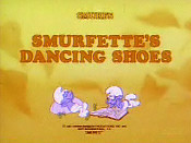 Smurfette's Dancing Shoes Cartoon Picture