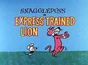 Express Trained Lion Cartoon Character Picture