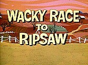 Wacky Race To Ripsaw Cartoon Picture