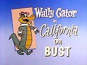 California Or Bust Picture Into Cartoon