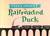 Railroaded Duck Cartoon Picture
