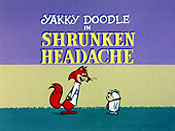 Shrunken Headache Cartoon Character Picture