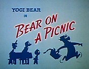 Bear On A Picnic Cartoon Picture