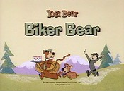 Biker Bear Picture Into Cartoon