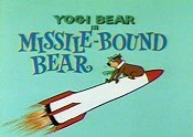 Missile-Bound Bear Cartoon Picture