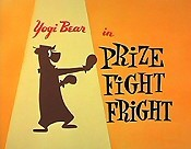 Prize Fight Fright Picture Into Cartoon