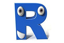 R Web Cartoon Series Logo