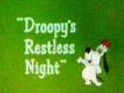Droopy's Restless Night Cartoon Character Picture