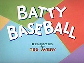 Batty Baseball Cartoon Picture
