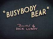 Busybody Bear Cartoon Picture