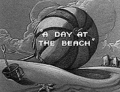 A Day At The Beach Free Cartoon Picture