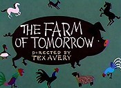 The Farm Of Tomorrow Cartoon Character Picture