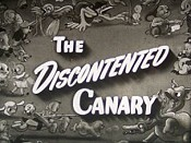 The Discontented Canary Free Cartoon Pictures