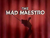 The Mad Maestro Cartoon Character Picture