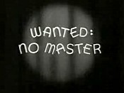 Wanted: No Master Cartoon Picture