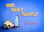 One Cab's Family Cartoon Picture