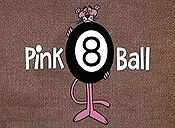 Pink 8 Ball Cartoon Picture