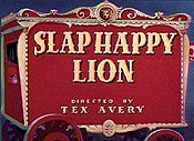 Slap Happy Lion Free Cartoon Picture