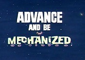 Advance And Be Mechanized Cartoon Picture