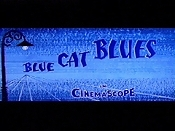 Blue Cat Blues Cartoon Character Picture