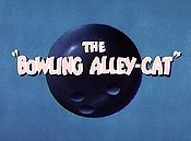 The Bowling Alley-Cat Cartoon Picture