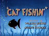 Cat Fishin' Cartoon Picture