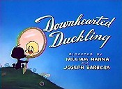 Downhearted Duckling Cartoon Picture