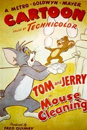 Mouse Cleaning Cartoon Picture
